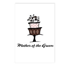 Mother of the Groom Pink Cake Postcards (Package o
