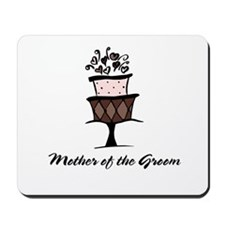 Mother of the Groom Pink Cake Mousepad