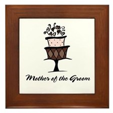 Mother of the Groom Pink Cake Framed Tile
