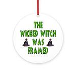 The Wicked Witch Was Framed Keepsake (Round)