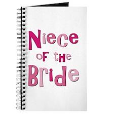 Niece of the Bride Wedding Journal