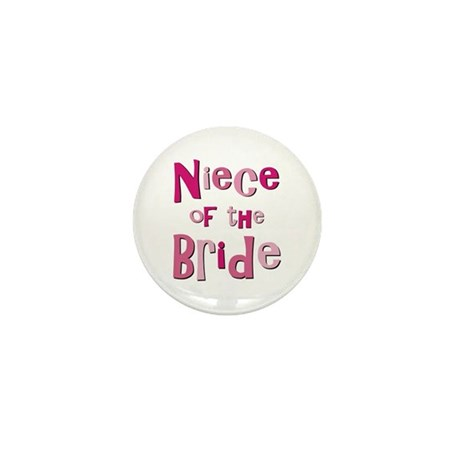 Niece of the Bride Wedding Mini Button (10 pack)