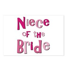 Niece of the Bride Wedding Postcards (Package of 8