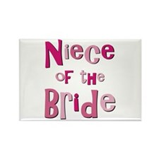 Niece of the Bride Wedding Rectangle Magnet (10 pa