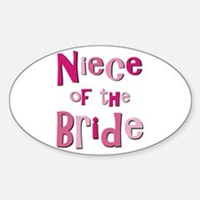 Niece of the Bride Wedding Oval Decal
