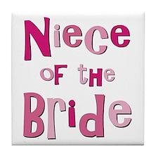 Niece of the Bride Wedding Tile Coaster