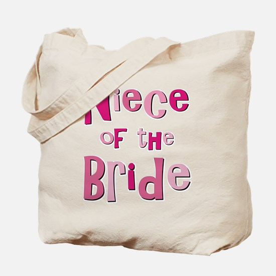 Niece of the Bride Wedding Tote Bag