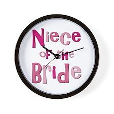 Niece of the Bride Wedding Wall Clock