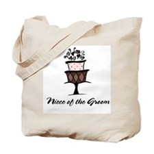 Niece of the Groom Pink Cake Tote Bag