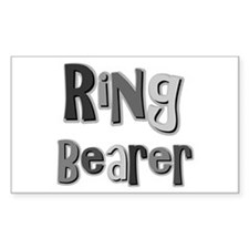Ring Bearer Wedding Party Rectangle Decal