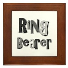 Ring Bearer Wedding Party Framed Tile