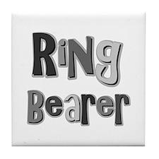 Ring Bearer Wedding Party Tile Coaster