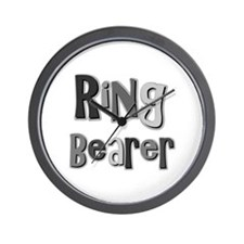 Ring Bearer Wedding Party Wall Clock