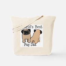World's Best Pug Dad Tote Bag