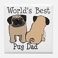 World's Best Pug Dad Tile Coaster