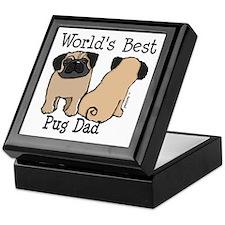 World's Best Pug Dad Keepsake Box
