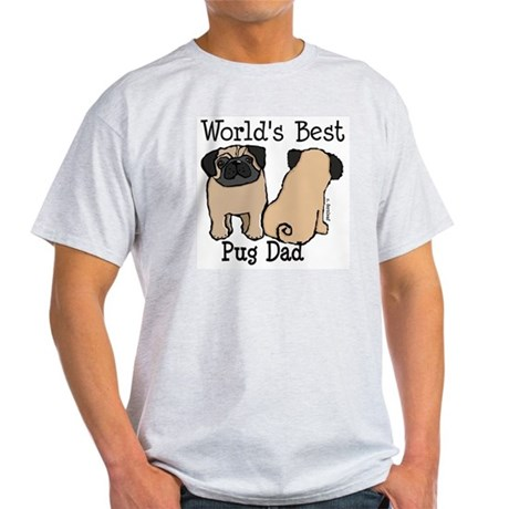 World's Best Pug Dad Light T-Shirt
