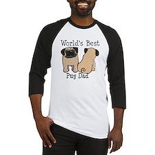 World's Best Pug Dad Baseball Jersey