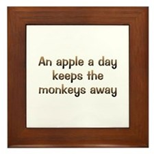 CW Apple A Day Framed Tile