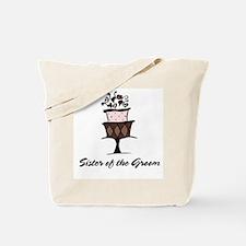 Sister of the Groom Pink Cake Tote Bag