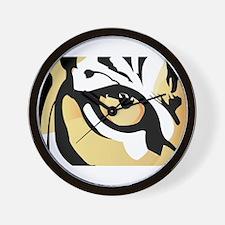 Tiger Eye Wall Clock