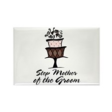 Groom Step Mother Wedding Party Rectangle Magnet