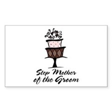 Groom Step Mother Wedding Party Sticker (Rectangul