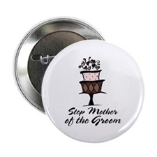 """Groom Step Mother Wedding Party 2.25"""" Button (10 p"""