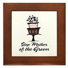 Groom Step Mother Wedding Party Framed Tile
