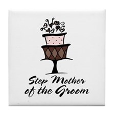 Groom Step Mother Wedding Party Tile Coaster