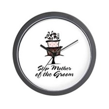 Groom Step Mother Wedding Party Wall Clock