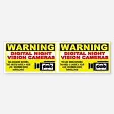 Security Camera Warning Bumper Bumper Bumper Sticker