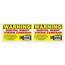 Security Camera Warning Bumper Bumper Sticker