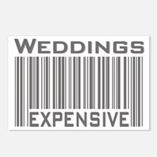Weddings Expensive Gray Postcards (Package of 8)