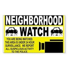 Neighborhood Watch Rectangle Decal