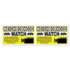 Neighborhood Watch Bumper Bumper Sticker