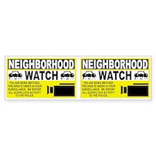 Neighborhood Watch Bumper Car Sticker