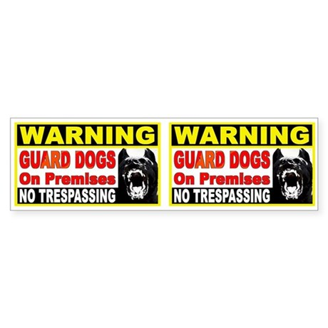 Guard Dog Bumper Sticker