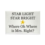 Where oh Where is Mrs. Right? Rectangle Magnet