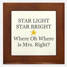 Where oh Where is Mrs. Right? Framed Tile