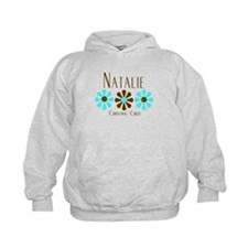 Natalie - Blue/Brown Flowers Hoodie