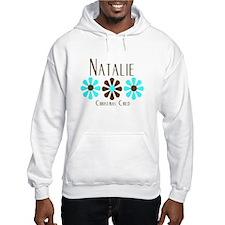 Natalie - Blue/Brown Flowers Hoodie Sweatshirt