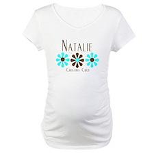 Natalie - Blue/Brown Flowers Shirt