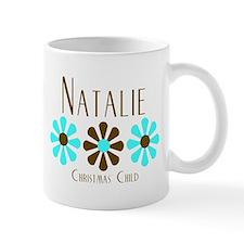Natalie - Blue/Brown Flowers Mug