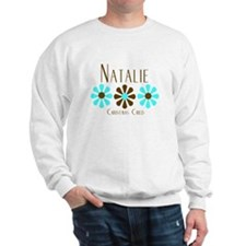 Natalie - Blue/Brown Flowers Sweater