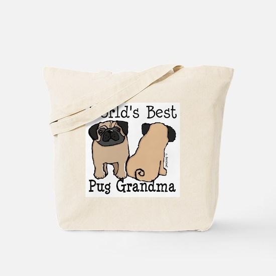 World's Best Pug Grandma Tote Bag