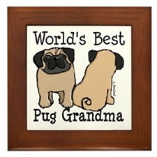 World's Best Pug Grandma Framed Tile