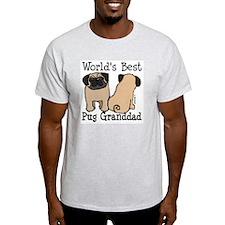 World's Best Pug Granddad T-Shirt