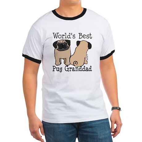 World's Best Pug Granddad Ringer T