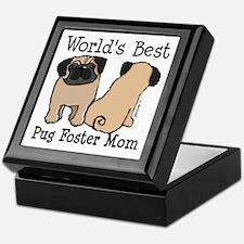 World's Best Pug Foster Mom Keepsake Box